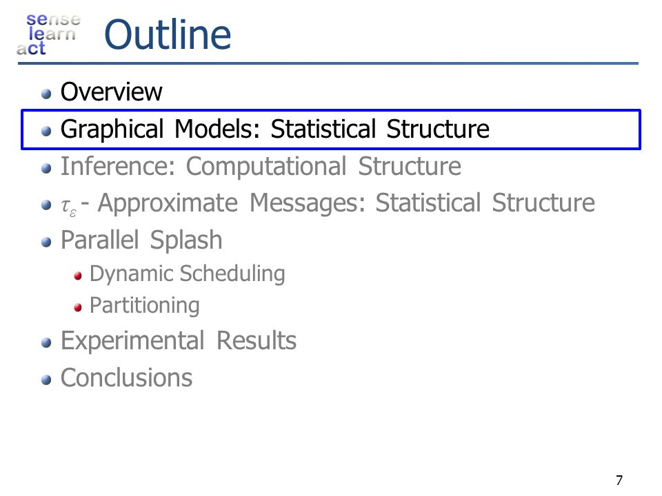 Outline Overview Graphical Models: Statistical Structure