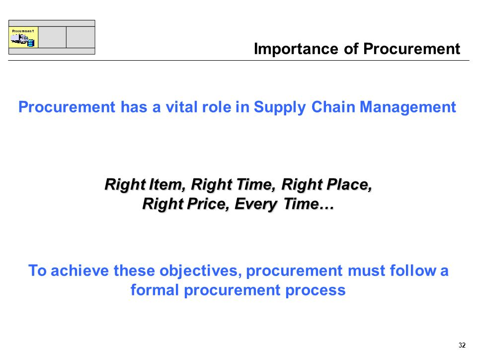 Importance of Procurement