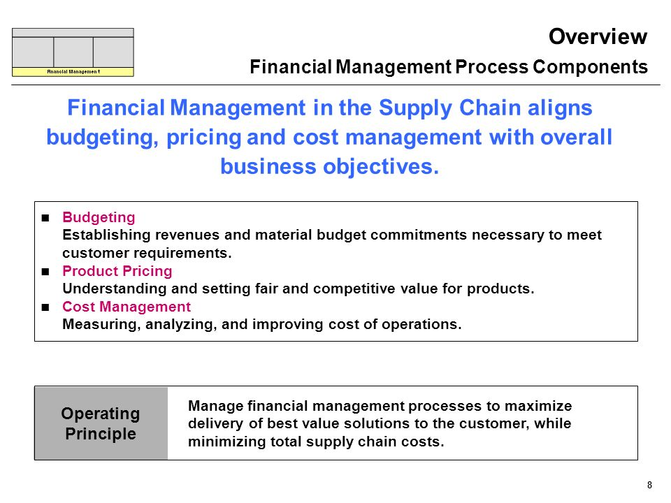 Overview Financial Management Process Components