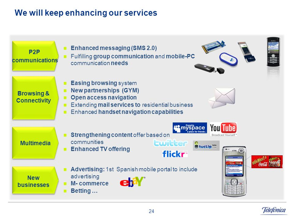 We will keep enhancing our services