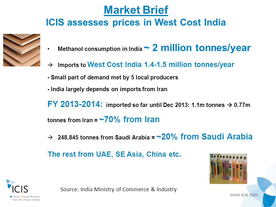 Market Brief ICIS assesses prices in West Cost India