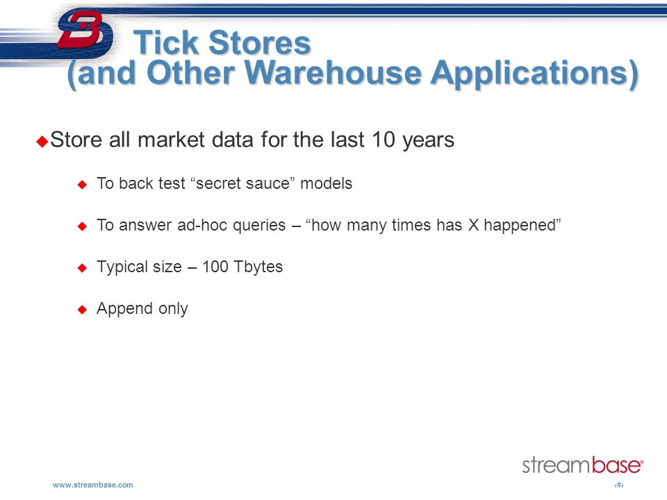 (and Other Warehouse Applications)