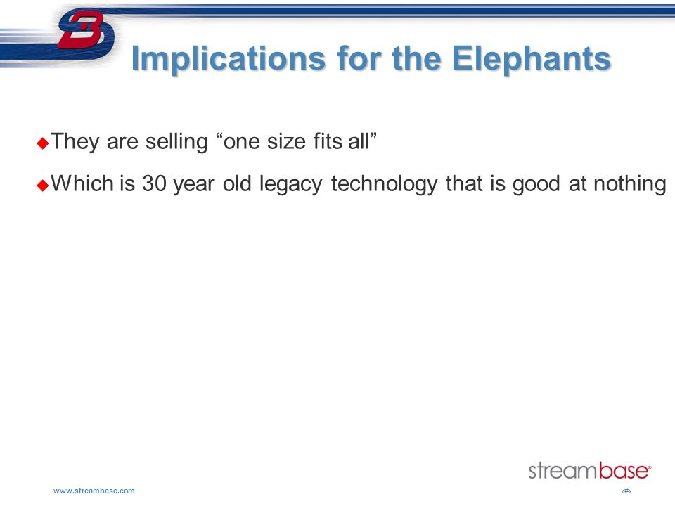 Implications for the Elephants