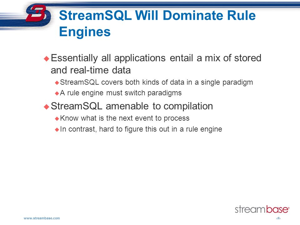 StreamSQL Will Dominate Rule Engines