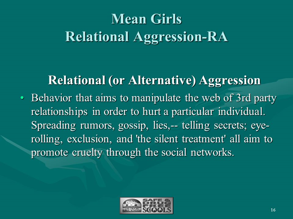 Mean Girls Relational Aggression-RA