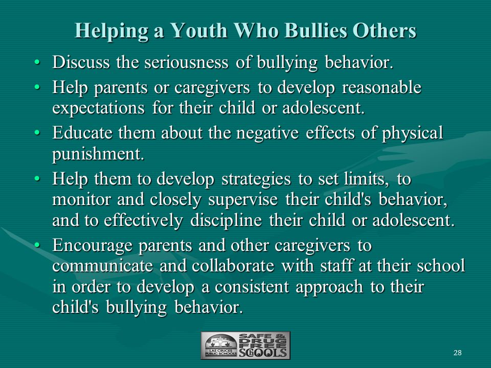 Helping a Youth Who Bullies Others