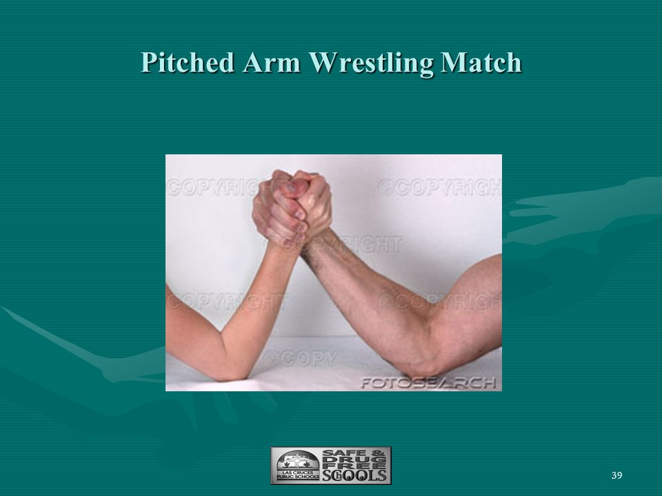 Pitched Arm Wrestling Match