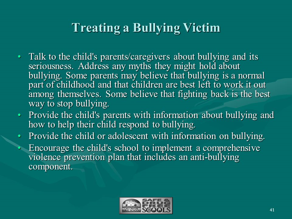 Treating a Bullying Victim