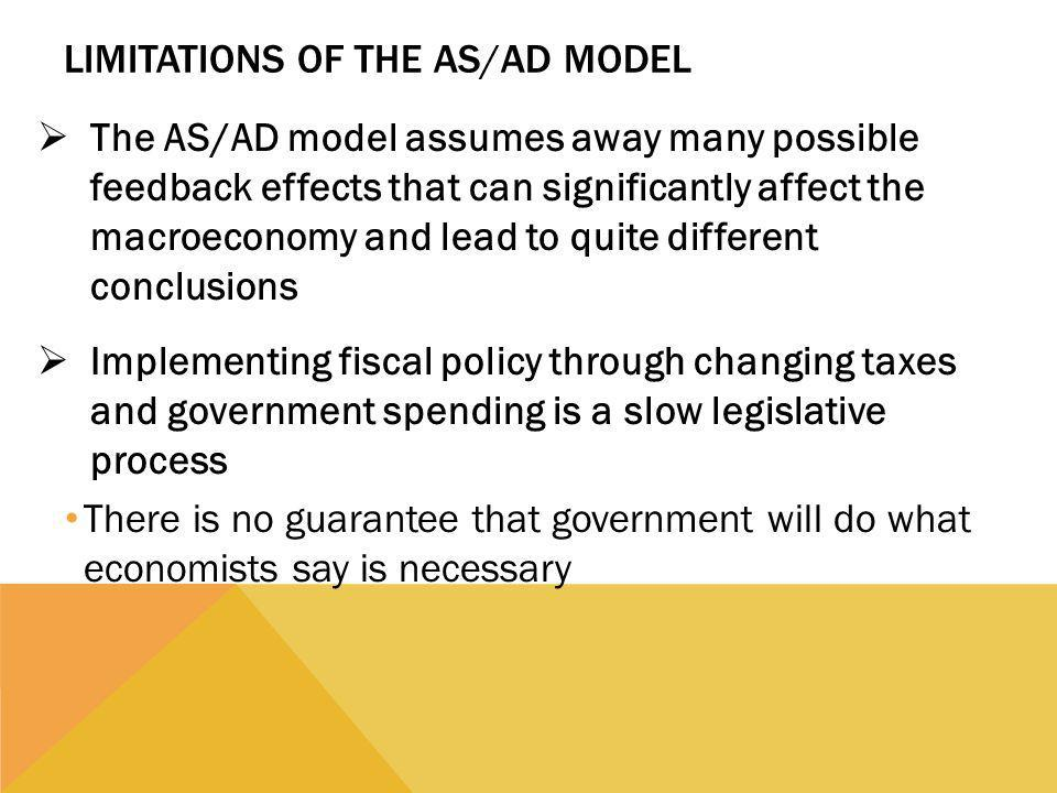 Limitations of the AS/AD Model