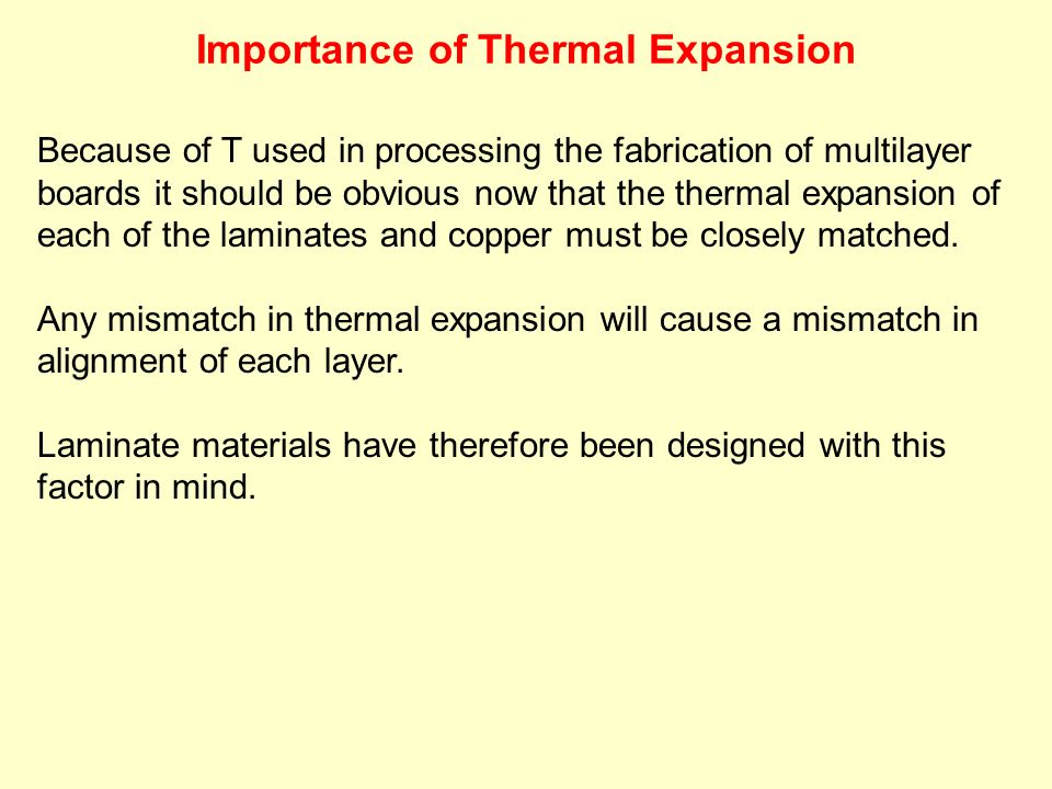 Importance of Thermal Expansion