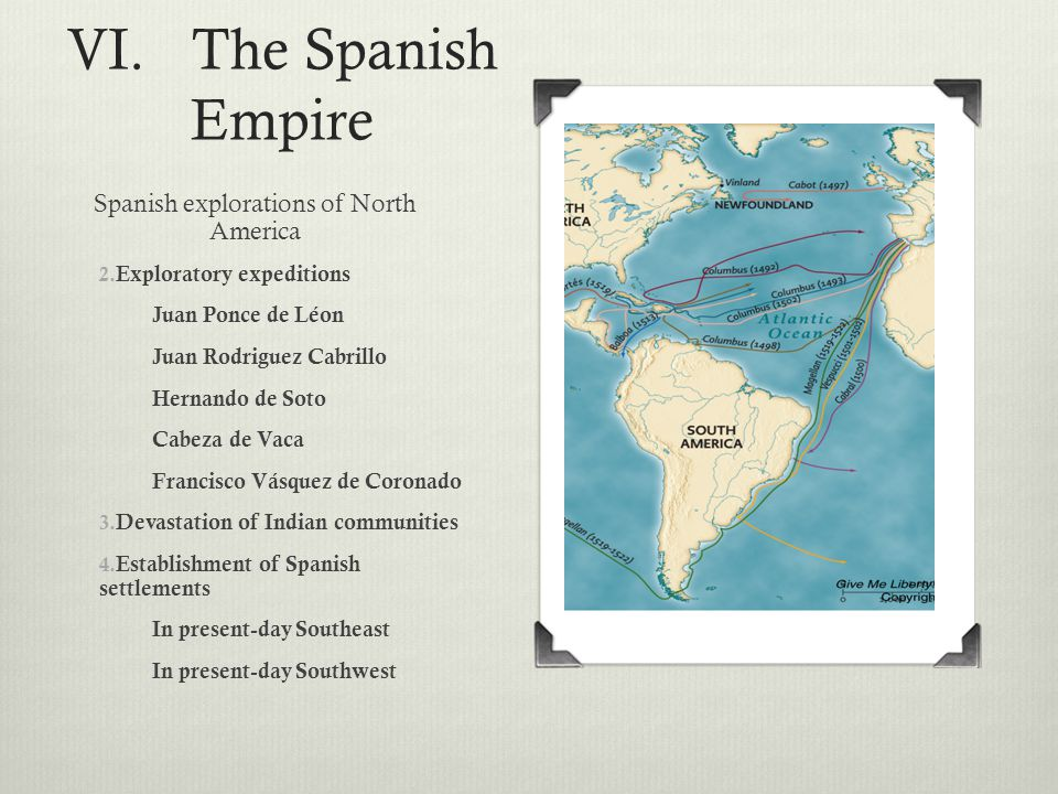 Spanish explorations of North America