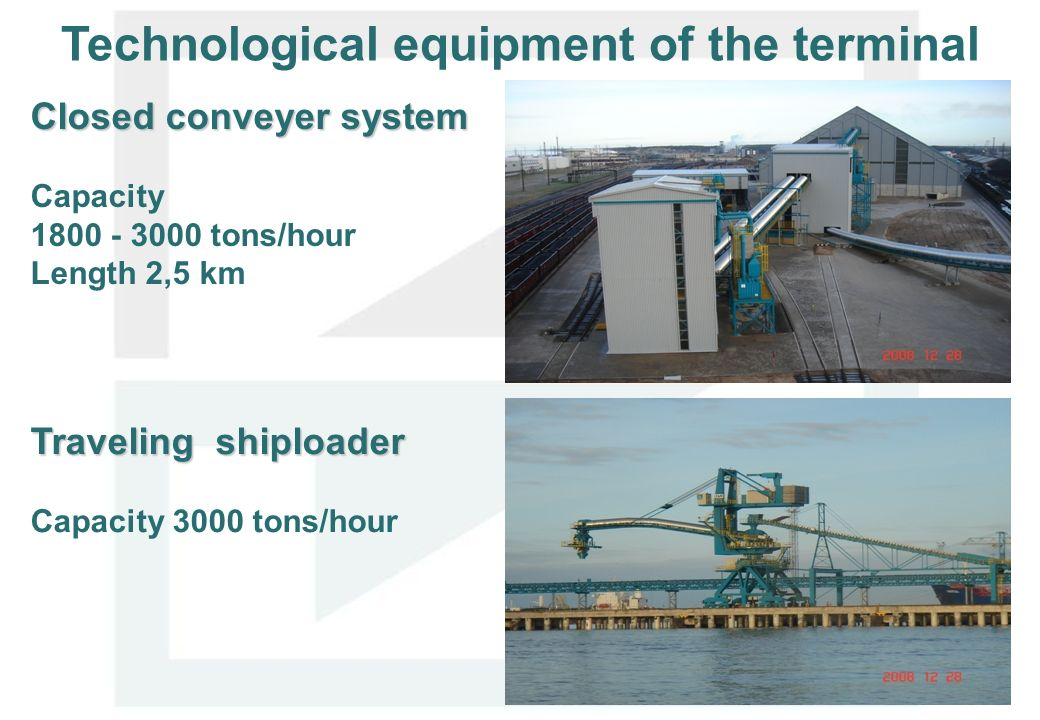Technological equipment of the terminal