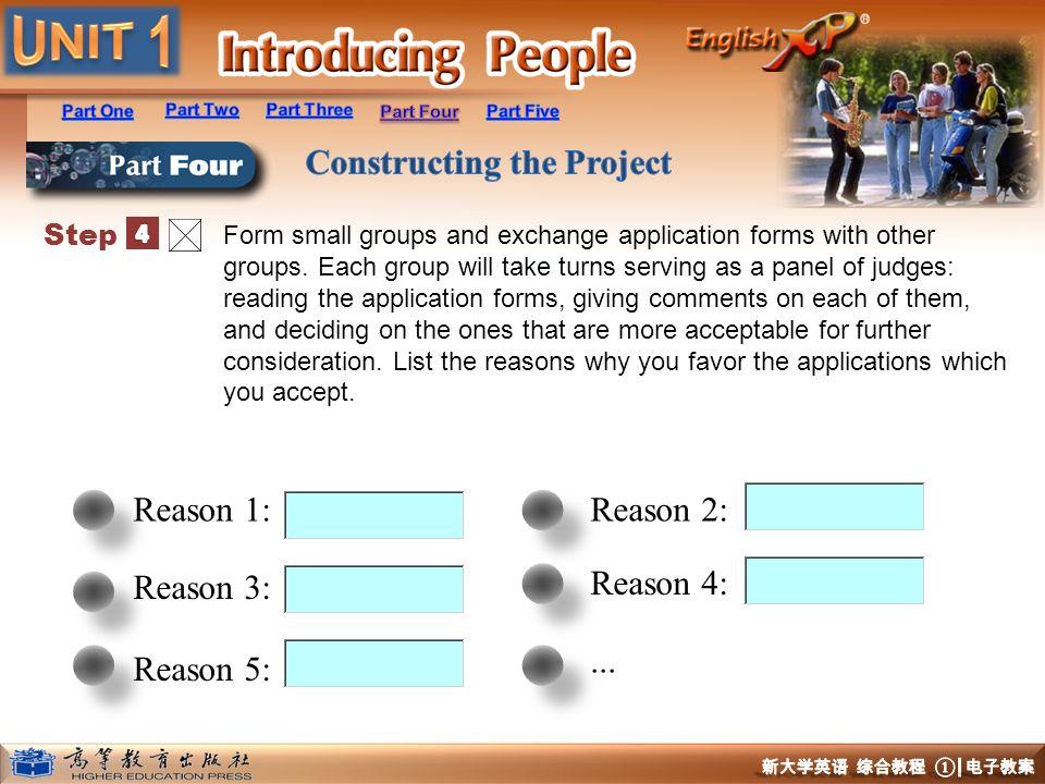 Reason 1: Reason 2: Reason 3: Reason 4: ... Reason 5: Step 4