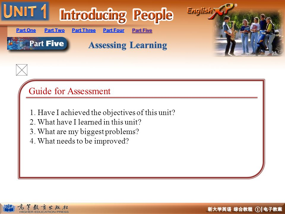 Guide for Assessment 1. Have I achieved the objectives of this unit