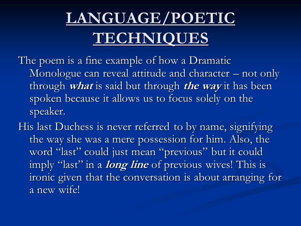 LANGUAGE/POETIC TECHNIQUES