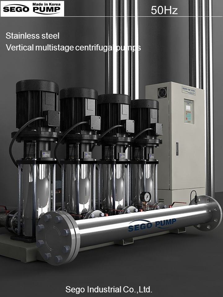 50Hz Stainless steel Vertical multistage centrifugal pumps
