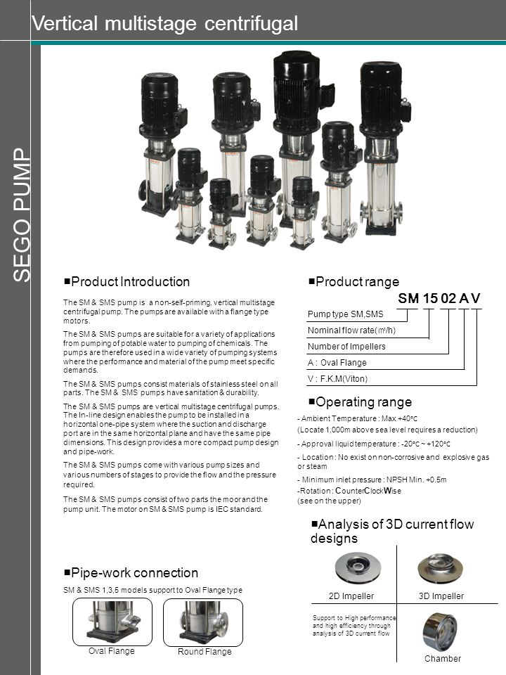 SEGO PUMP Vertical multistage centrifugal ■Product Introduction