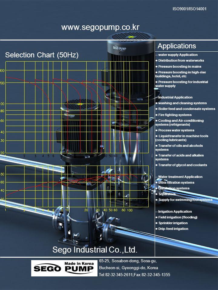 www.segopump.co.kr Sego Industrial Co.,Ltd. Applications