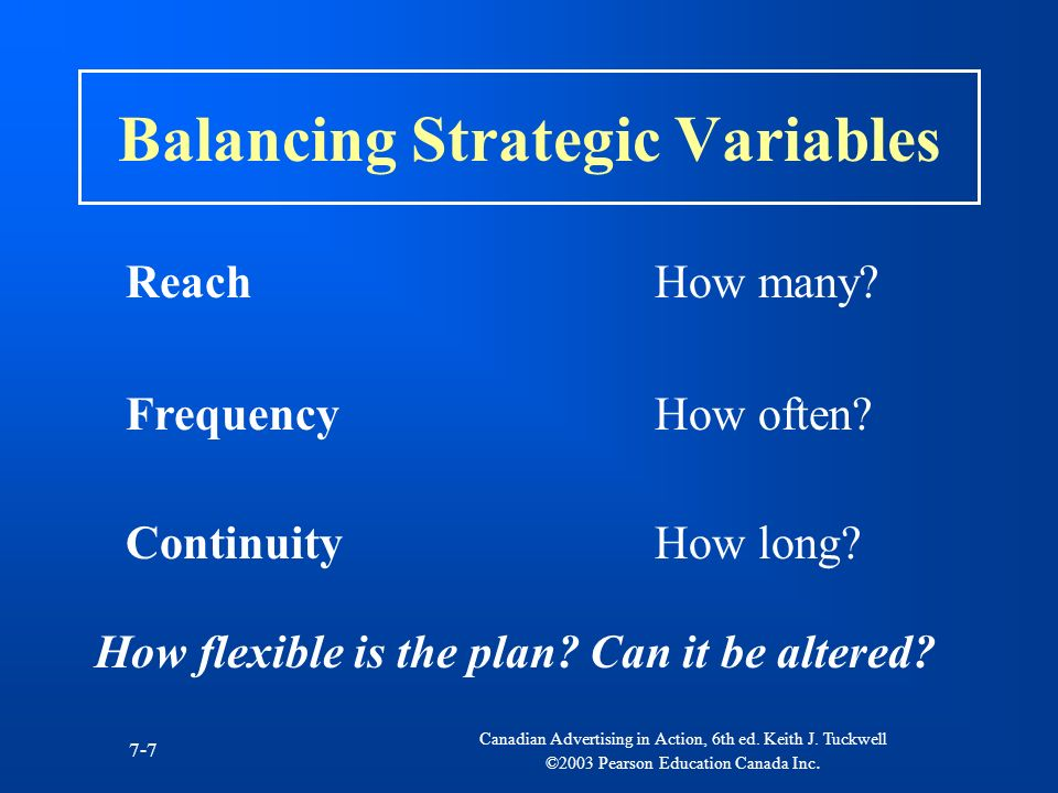 Balancing Strategic Variables