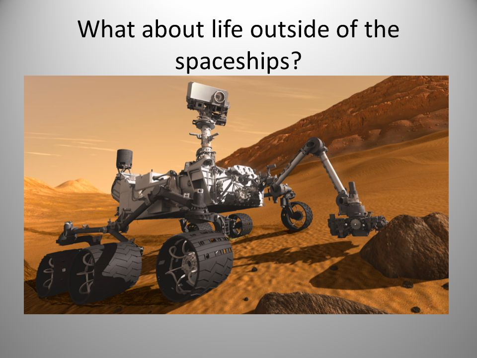 What about life outside of the spaceships