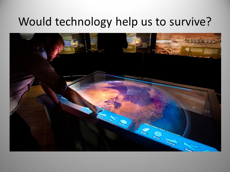 Would technology help us to survive
