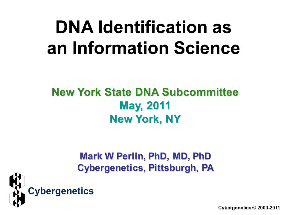 DNA Identification as an Information Science