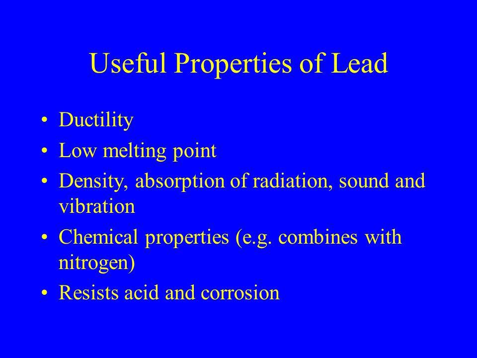 Useful Properties of Lead
