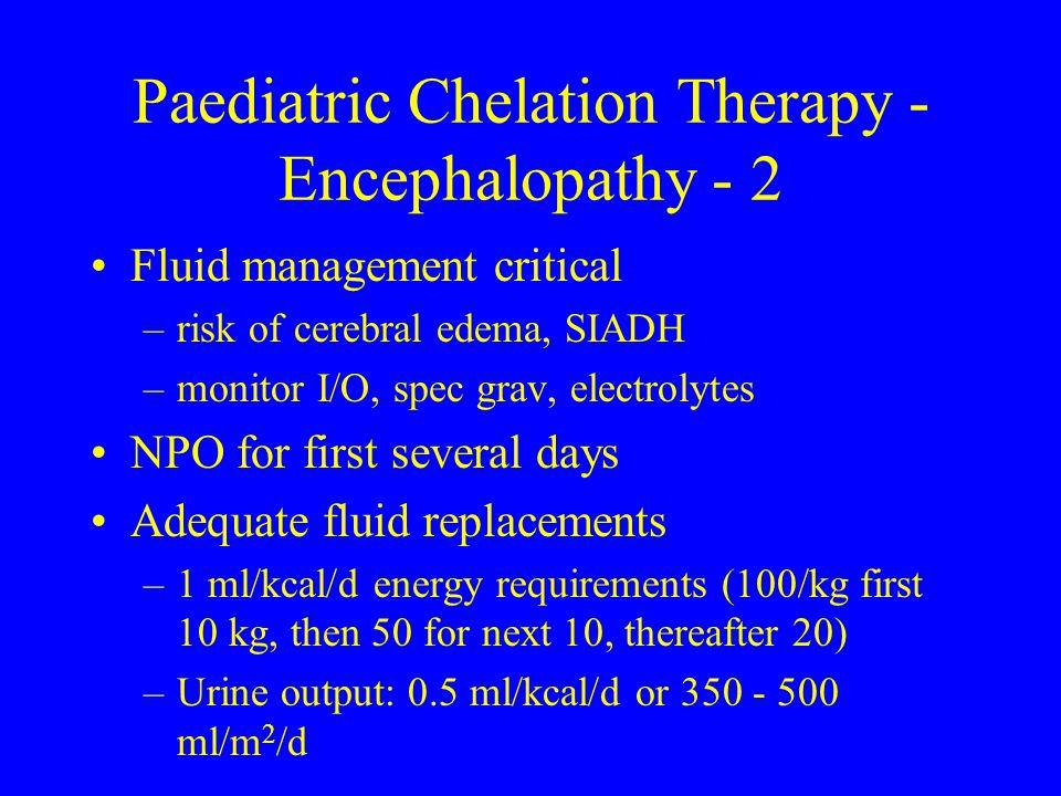 Paediatric Chelation Therapy - Encephalopathy - 2
