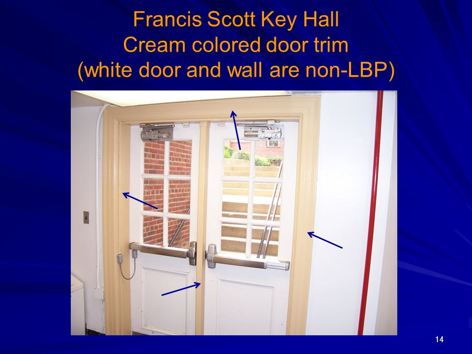 Francis Scott Key Hall Cream colored door trim (white door and wall are non-LBP)