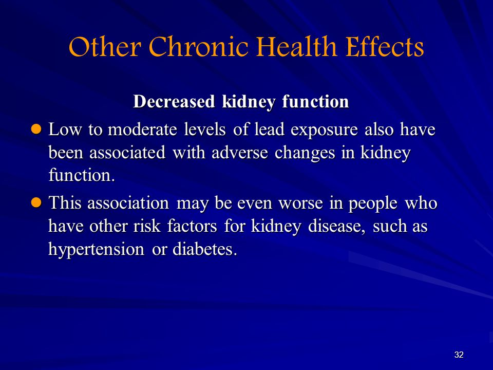 Other Chronic Health Effects