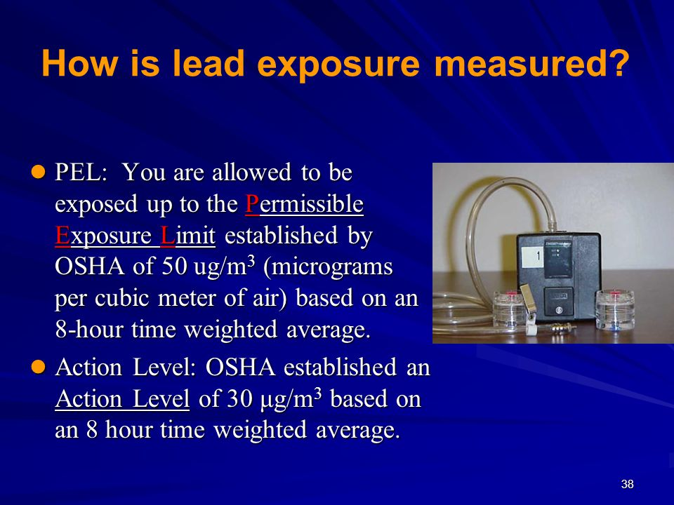 How is lead exposure measured