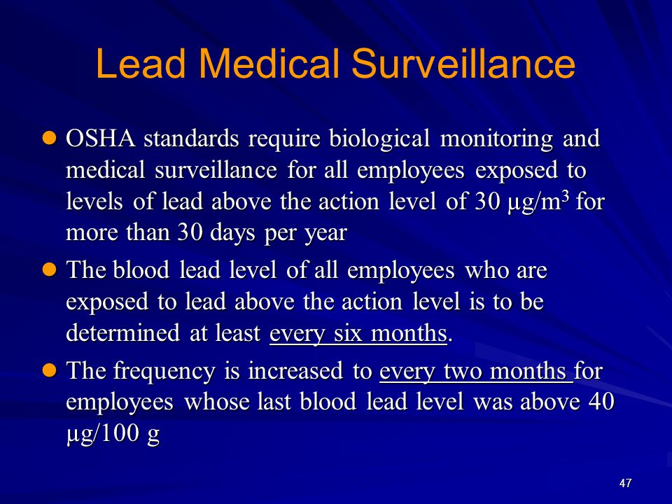 Lead Medical Surveillance
