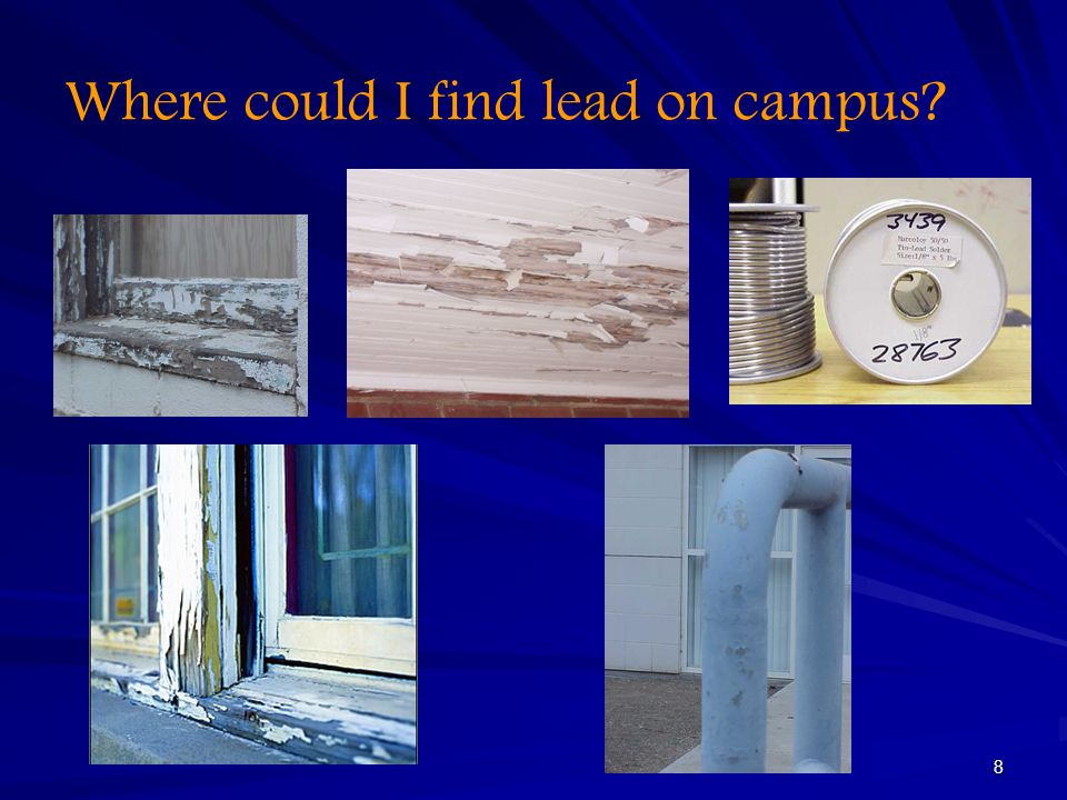 Where could I find lead on campus