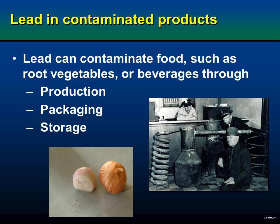 Lead in contaminated products