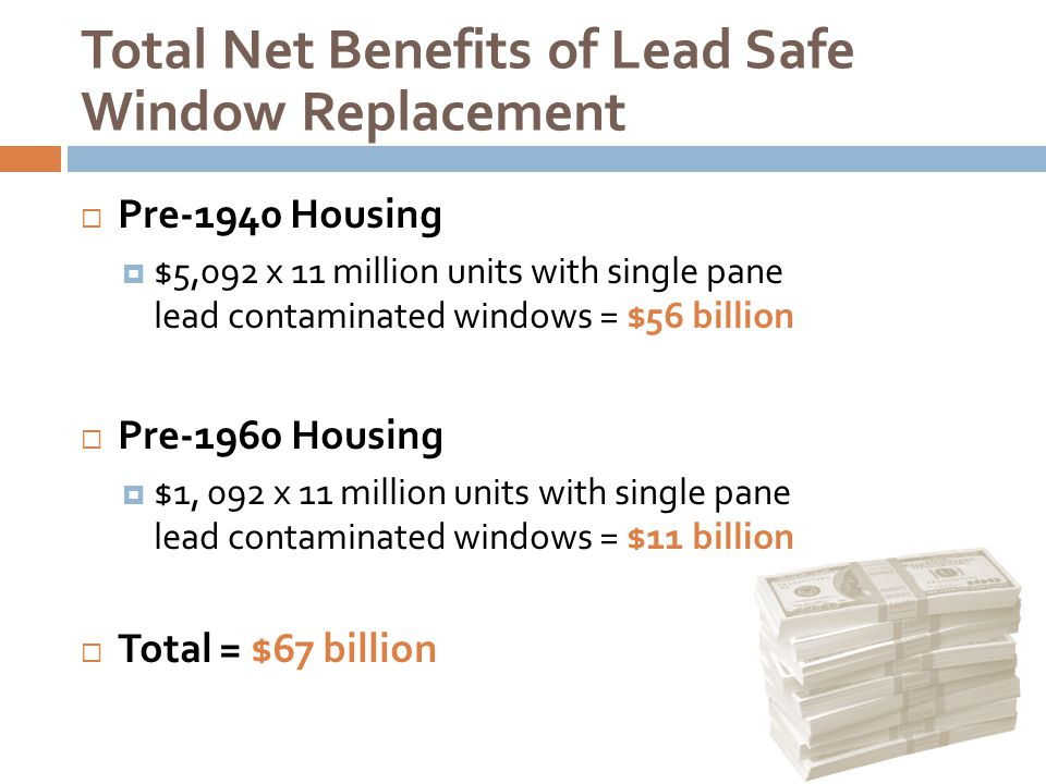 Total Net Benefits of Lead Safe Window Replacement