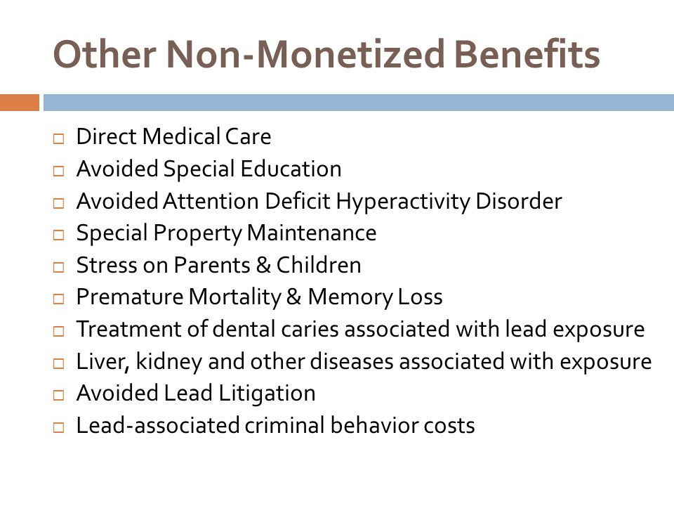 Other Non-Monetized Benefits