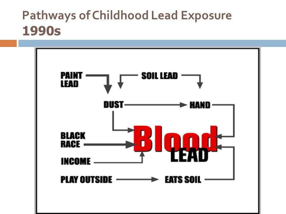 Pathways of Childhood Lead Exposure 1990s
