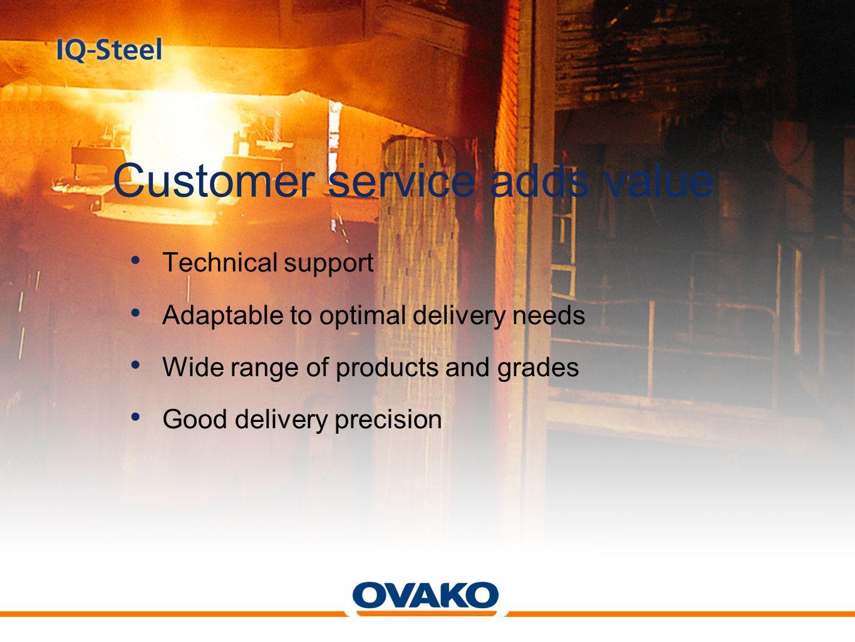 Customer service adds value