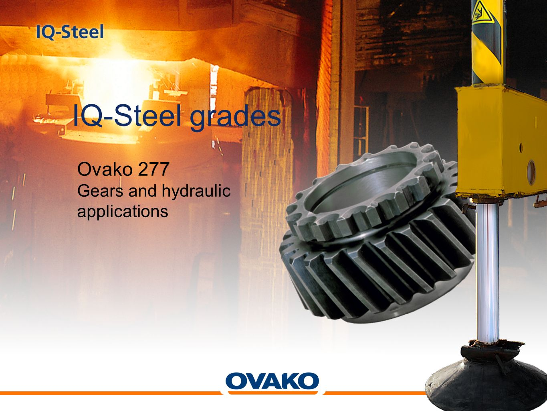 IQ-Steel grades Ovako 277 Gears and hydraulic applications
