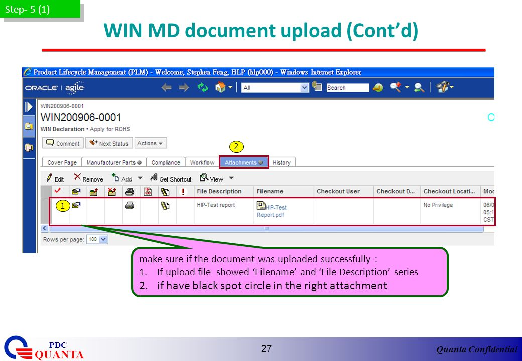 WIN MD document upload (Cont'd)