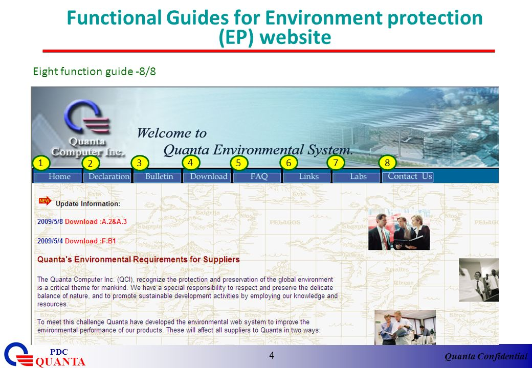 Functional Guides for Environment protection (EP) website