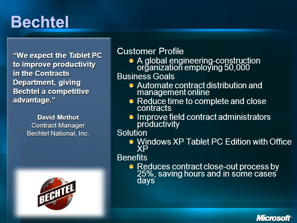 Bechtel Customer Profile