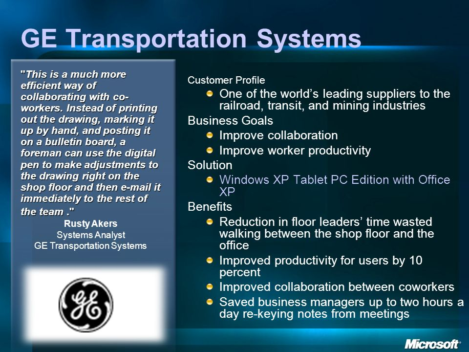 GE Transportation Systems