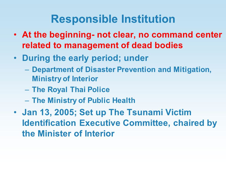 Responsible Institution