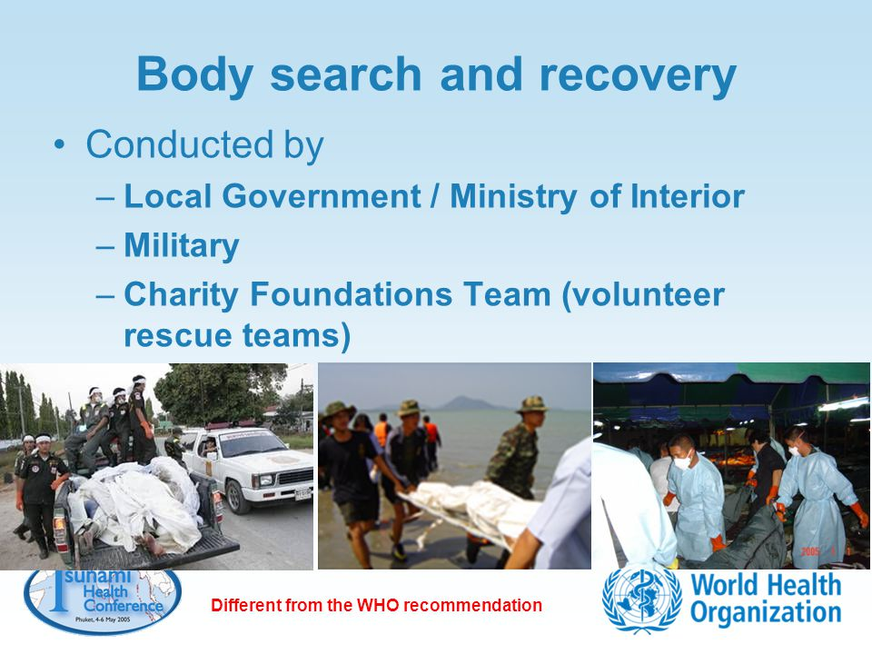 Body search and recovery