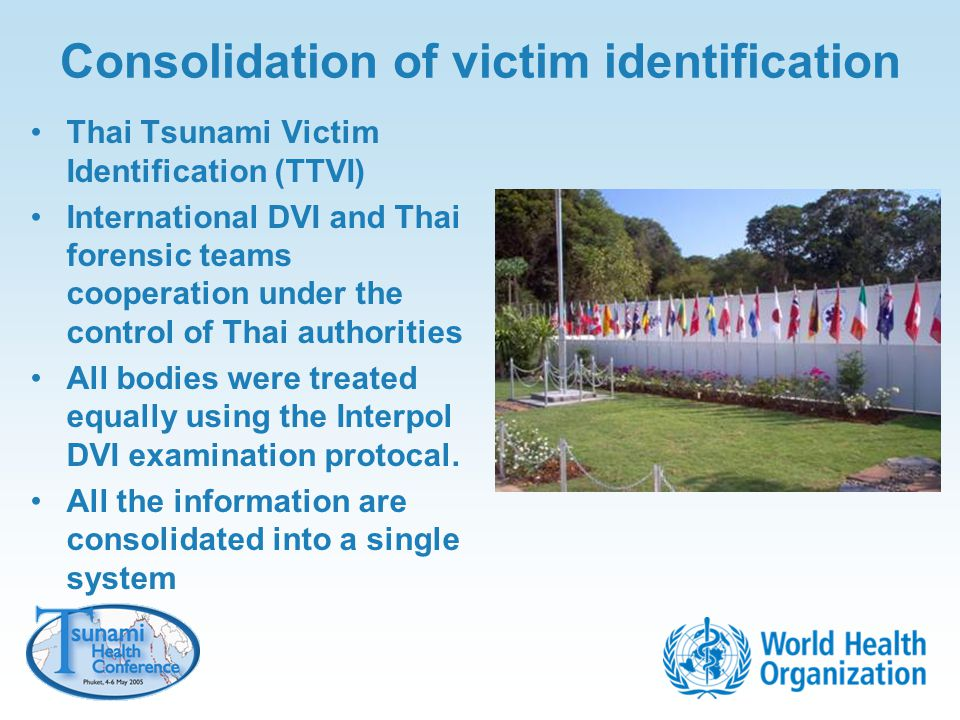 Consolidation of victim identification