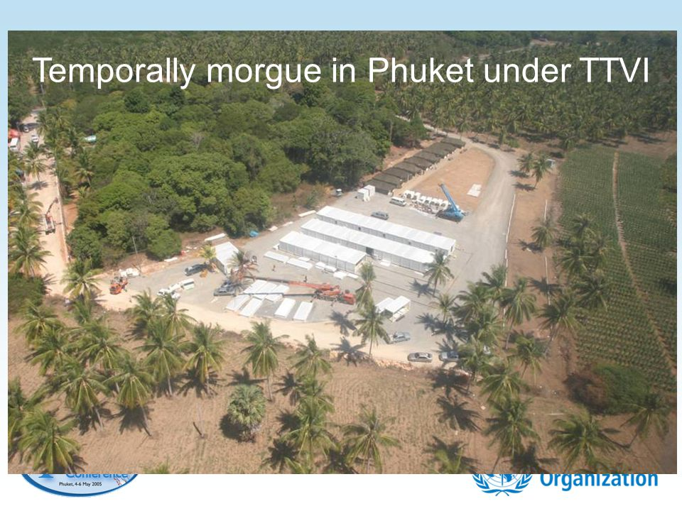 Temporally morgue in Phuket under TTVI