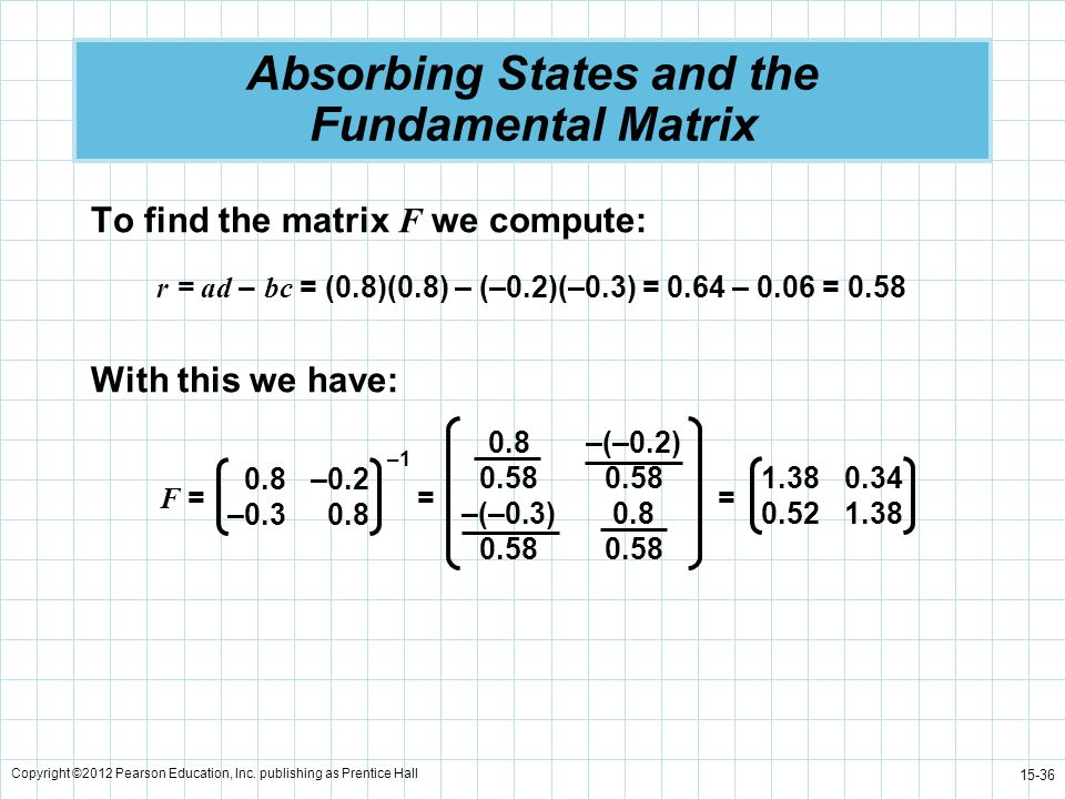 Absorbing States and the Fundamental Matrix