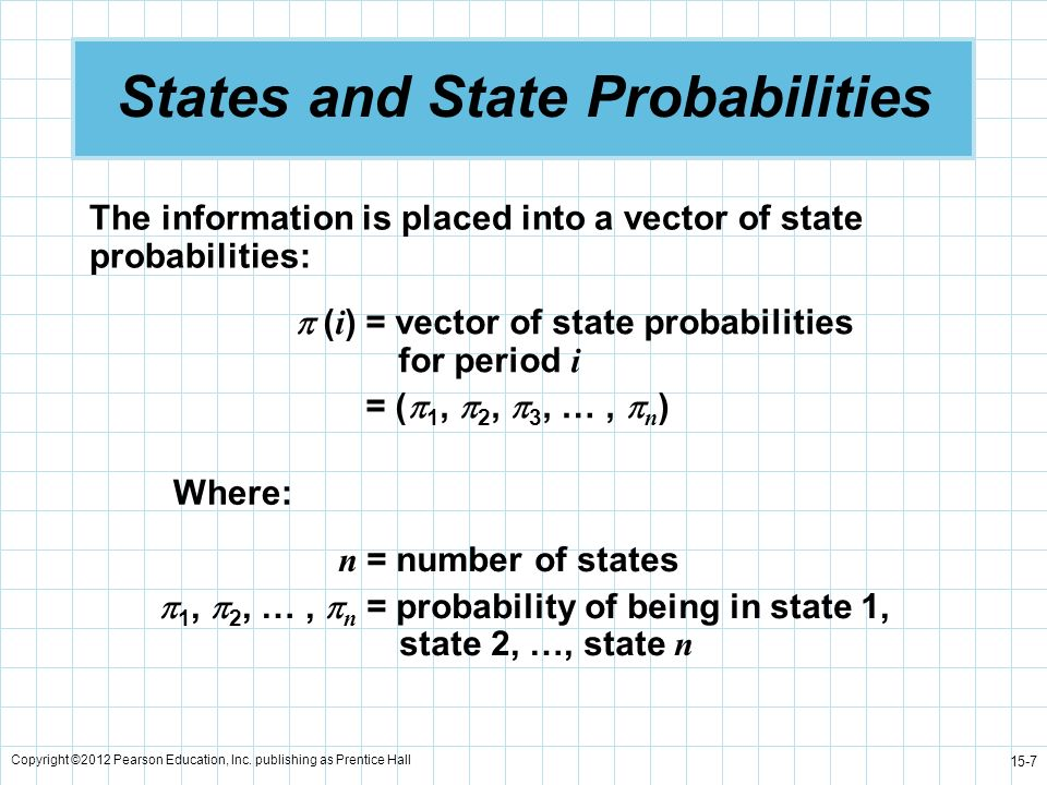 States and State Probabilities