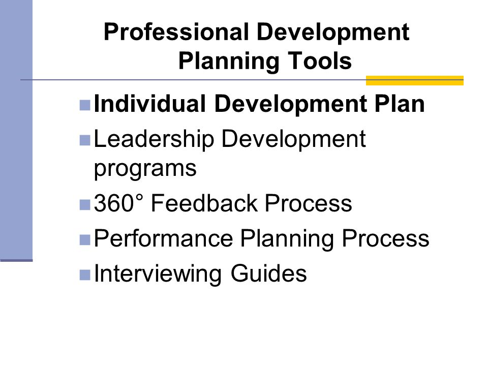 Professional Development Planning Tools